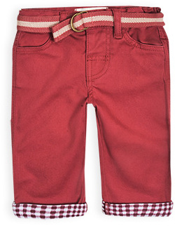 Pumpkin Patch Belted Turn Up Pants