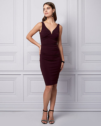 Le Château Knit Deep V-Neck Cocktail Dress