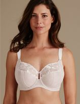 Marks and Spencer Floral Embroidered Non-Padded Full Cup Bra