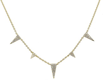 Bony Levy Monroe Stiletto Diamond Pendant Necklace