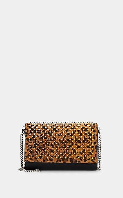 Christian Louboutin Women's Paloma Leather & Suede Chain Clutch