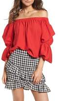 Lush Puff Sleeve Off the Shoulder Top