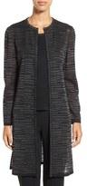 Ming Wang Women's Longline Shimmer Knit Topper