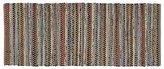 Crate & Barrel Pinstripe Grey Cotton 2.5'x6' Rag Rug Runner