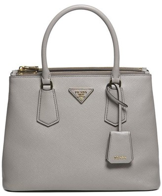 Prada Logo Plaque Top Handle Bag