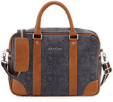 Robert Graham Faux-Leather Messenger Briefcase Bag, Black Paisley