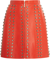 Elie Saab Studded Leather Mini Skirt