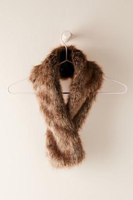 Anthropologie Jimala Oversized Faux Fur Scarf By in Beige