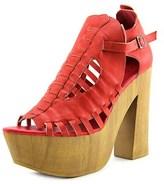 Penny Loves Kenny Merlin Women Open Toe Synthetic Red Platform Sandal.