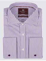 M&s Collection Luxury 2in Longer Pure Cotton Regular Fit Shirt