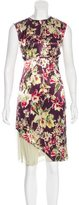 Jean Paul Gaultier Satin Floral Print Dress