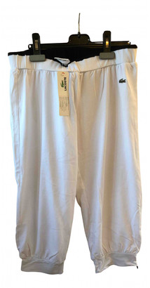 Lacoste White Cotton Trousers