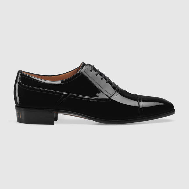 Gucci Patent leather lace-up shoe