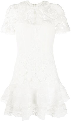 Jonathan Simkhai Lace-Panelled Crepe Dress