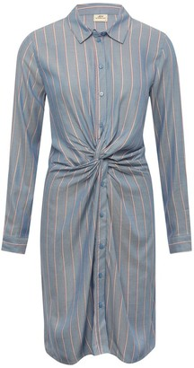 M&Co JDY striped knot shirt dress