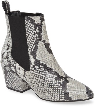 Matisse Morgan Snake Embossed Leather Chelsea Boot
