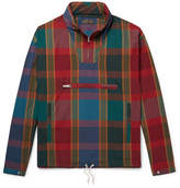 Beams Packable Checked Cotton and Nylon-Blend Hooded Anorak