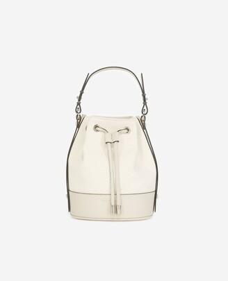 The Kooples Medium Tina bag in ecru canvas