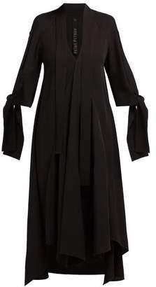 Petar Petrov Dillon Draped Crepe Midi Dress - Womens - Black