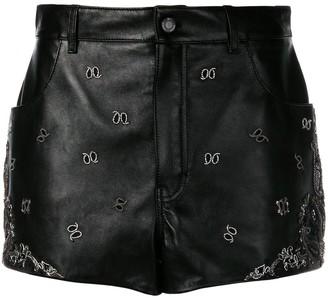 Saint Laurent Embroidered Mini Skirt
