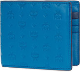 Mcm Sigmund Logo Embossed Leather Wallet