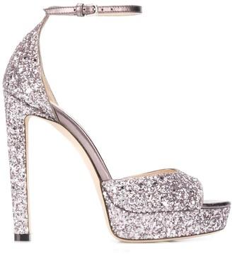 Jimmy Choo glitter Pattie 130mm sandals