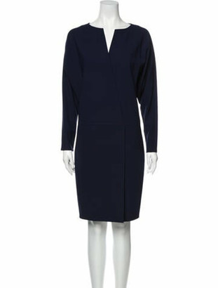 Ralph Lauren Purple Label Wool Knee-Length Dress Purple