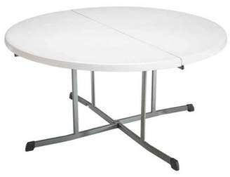 Lifetime 8pk Round Commercial Fold In Half Table White
