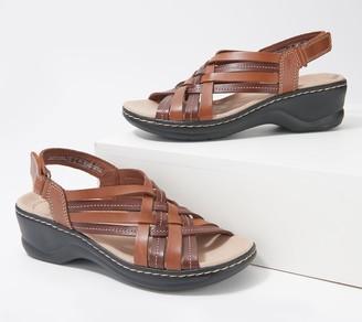 Clarks Collection Woven Leather Sandals - Lexi Carmen