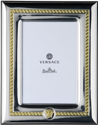 """Versace Silver & Gold Photo Frame, 4"""" x 6"""""""