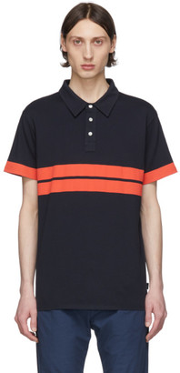 Paul Smith Navy and Orange Sport Stripe Polo