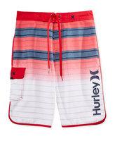 Hurley Men's Striped Drawstring Board Shorts