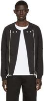 Pierre Balmain Black Terry Biker Sweater
