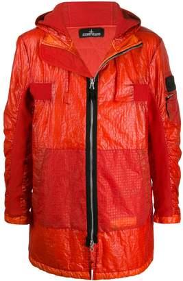Stone Island Shadow Project crinkle zip-up jacket