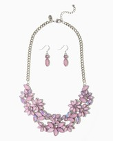 Charming charlie Iridescent Bouquet Necklace Set