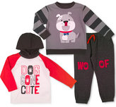 Nannette 3-Pc. Hoodie Shirt, Sweatshirt & Sweatpants Set, Toddler & Little Boys (2T-7)