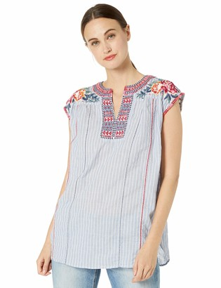 3J Workshop by Johnny Was Women's Sleeveless Tunic Top with Embroidery