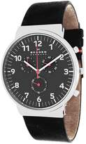 Skagen Ancher Chronograph Collection SKW6100 Men's Leather Strap Watch