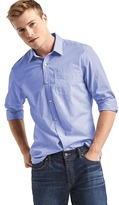 Gap True wash end-on-end slim fit shirt