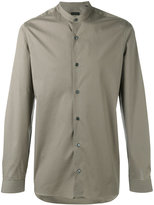 Z Zegna plain long sleeve shirt - men - Cotton/Spandex/Elastane - 39