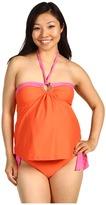 Maternal America Maternity Tina Boarder O-ring 2 PieceTankini (Coral/Pink) - Apparel