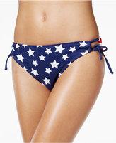 California Waves Flag-Print Hipster Bikini Bottoms