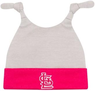 New Era Newborn Gray/Pink St. Louis Cardinals Shadow Tot Dub Cuffed Knit Hat