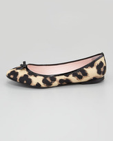 RED Valentino Leopard-Print Ballerina Flat