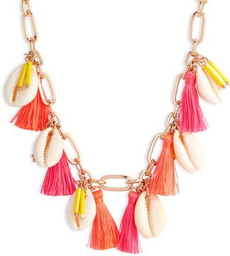 BP Tassel & Shell Collar Necklace