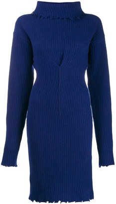 Unravel Project Roll Neck Knitted Dress