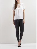 Vila Plain, Round Neck Top with Short Sleeves