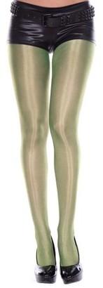 Music Legs Shiny metallic spandex pantyhose 7180-TURQUOISE