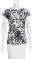 Stella McCartney Semi-Sheer Leopard Print T-Shirt