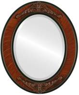 Oval And Round Mirrors OvalAndRoundMirrors.com Oval Beveled Mirror in a Ramino style frame with outside dimensions
